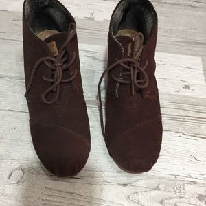 Toms Brown Boots Sz9.5